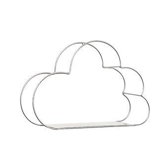 Cloud Shape Storage Wall Hanging Shelf White