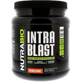 NutraBio Labs, Intra Blast, Intra Workout Muscle Fuel, Orange Mango, 1.6 lb (724