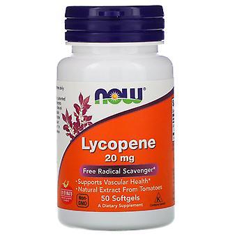 Now Foods, Lycopene, 20 mg, 50 Softgels