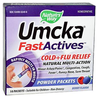 Naturens vei, Umcka, Fast Actives, Kald + Influensaavlastning, Ikke-døsig, Berry Flavor,