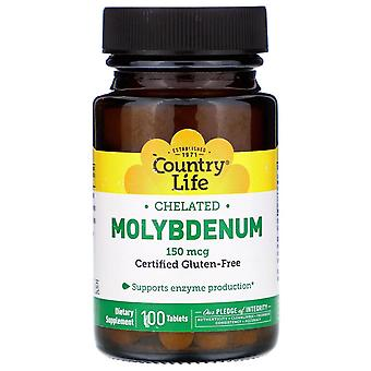 Country Life, Chelated Molybdenum, 150 mcg, 100 Tablets