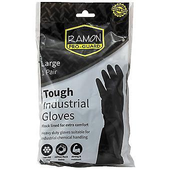 Ramon Pro-Guard Heavy Duty Rubber Gloves Large