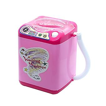 Mini Electric Washing Machine- Children Pretend Role Play Makeup Brush Cleaner Device Educational Toys