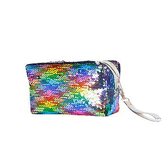 YANGFAN Fish Scale Sequins Ladies Hand Cosmetic Bag