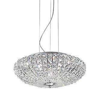 6 Light  Large Ceiling Pendant Chrome, G9
