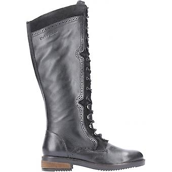 Hush Puppies Rudy Ladies Leather Tall Boots Black