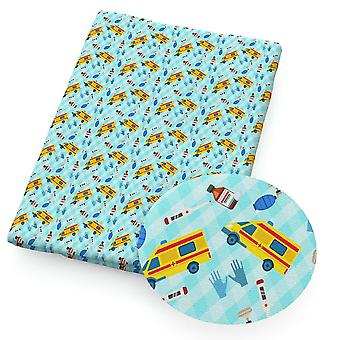 Polyester Cotton Fabric Printed Bow-knot Cartoon Patchwork For Cloth Making