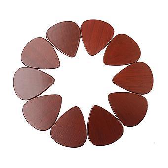 10PCS Natural Rose Wood Grain Guitar Picks for Guitar Bass and Ukulele