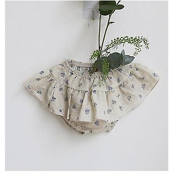 Summer Infants Clothes Floral Printed Baby Girls Cute Shorts Ruffles Cotton Kids Skirt Shorts