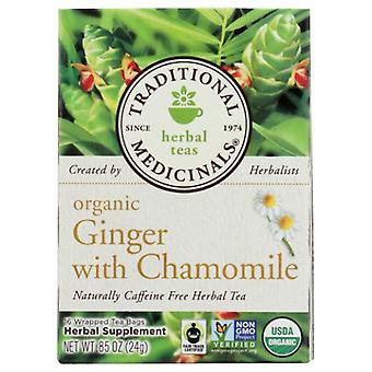 Traditional Medicinals Teas Organic Golden Ginger Digest Tea, 16 Bags