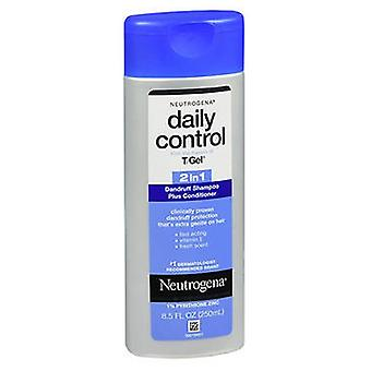 Neutrogena T/Gel Daily Control 2 In 1 Roos Shampoo Plus Conditioner, 8,5 oz