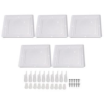 5 x Quadratische LED Deckenleuchte Chassis für Home Illumination 250x250mm