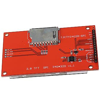 LCD Touch Panel 240 x 320 2.8inch SPI TFT Serial Port Module With PBC ILI9341 Red