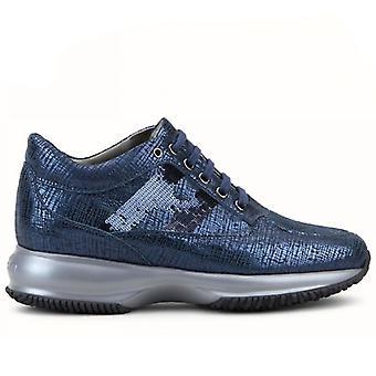 Sneakers Donna Hogna Interactive Blu Con Pailettes