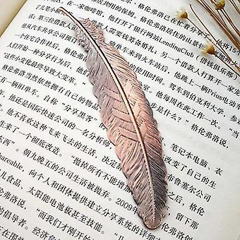 """Höyhen muoto metalli kirjanmerkki (11.5 * 2.3cm / 4.52 * 0.9"""")"""