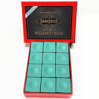 12pcs Billiard Chalk Snooker Billiard Game Cue Tip