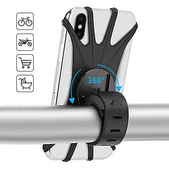 Bicycle Mobile Phone Holder, Silicone Motorcycle Bike Handlebar Stand Mount
