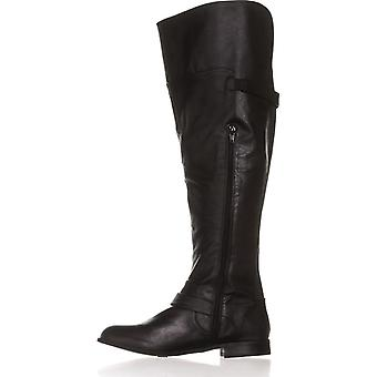 Bar III Womens DAPHNE Fabric Almond Toe Knee High Fashion Boots