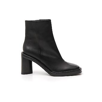 Acne Studios Ad0221black Women's Black Leather Ankle Boots