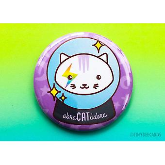 Abra-cat-dabra Magical Cat - Magnet Pin Or Mirror
