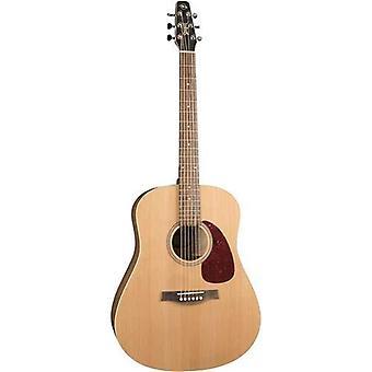 Seagull s6 cedar original slim 6-string acoustic guitar, 21 frets, solid cedar top, wild cherry back, silver leaf maple neck, natural semi-gloss