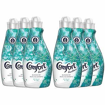 Komfort Kreationen Seerose und Kalk Stoff Conditioner, 33 Wässer, 6 Packungen