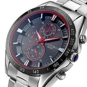 LONGBO 80007 Full Steel Men Quartz Watches Business Style Analog Luminous Hand