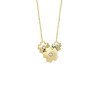 blomst gull halskjede