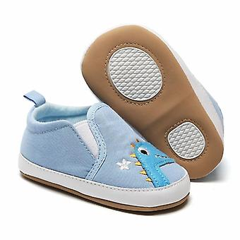 Baby Cute Cartoon Print Canvas Shoes, First Walkers Anti-slip Shoe