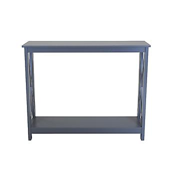 Charles Bentley Tetbury Country Style Wooden Hallway Side Console Table 80x100x30cm Grey