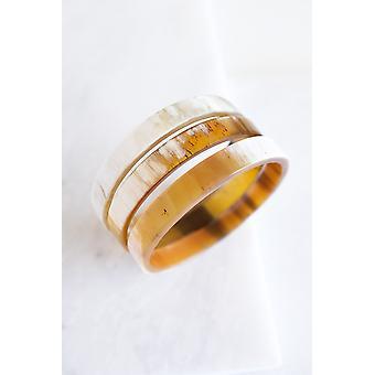 Bracciale braccialetto minimalista corno di bufalo