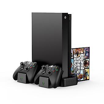 Suporte de carregamento vertical com 2 pacotes de bateria recarregável x: preto (Xbox One)