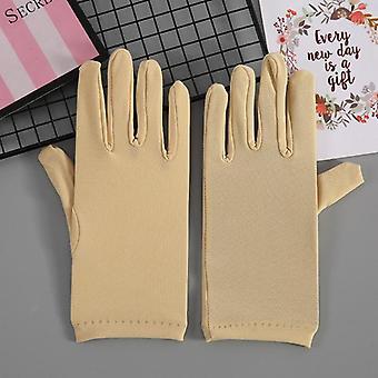 Sexy Short Spandex Bridal Gloves Waist Length Women Dance Party Gloves