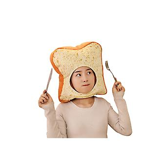 Toast Soft Cloth Bread Slices Peluche Headgear Hat Cute Pillow Photo Props Couvre-chef de jeu de rôle