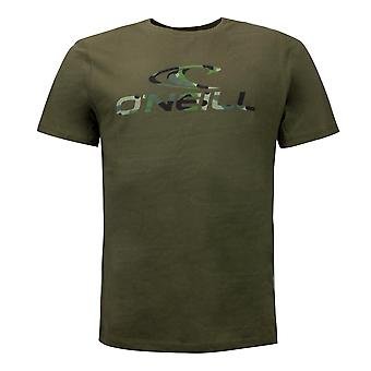 O'Neill Mens Photoprint T-Shirt Lifestyle Short Sleeve Casual Khaki Top 7A3766
