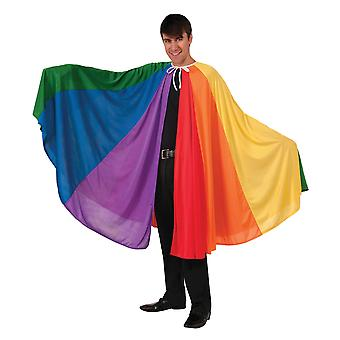 Bristol Novelty Unisex Adults Rainbow Cape