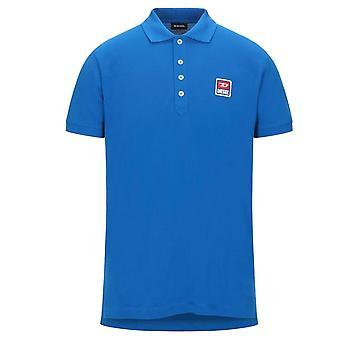 Diesel T-Kal-Patch blau Polo Shirt