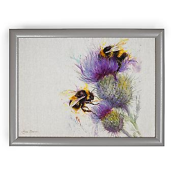 Jane Bannon Bees On Thistle Lap Tray