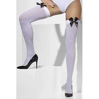 Opaque hold-ups women: one size black white