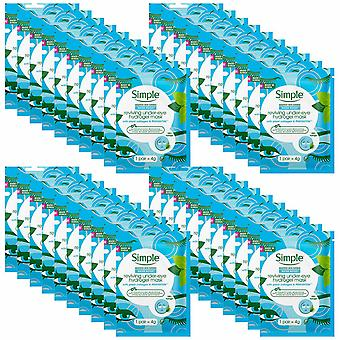 40pk x 4gm Simple Water Boost Reviving Under Eye Mask