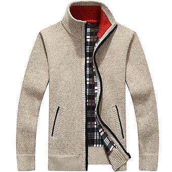 Sweater Men Autumn, Winter, Cardigan Coats, Thick Faux Fur Wool Mens Jackets,