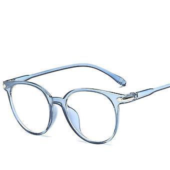 Anti-blå ljus, vintage runda klar, lins glasögon, glasögon ram och kvinnor