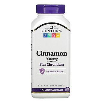 21st Century, Cinnamon Plus Chromium, 2,000 mg, 120 Vegetarian Capsules