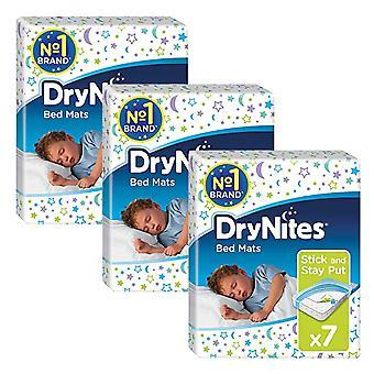 3 x 7 Huggies Trockenbett Matten Pads 78x88cm Kinder Einzelbett Kinder Stick und Aufenthalt