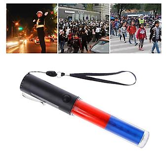 Powerful Led Flashlight Plastic Traffic Wand Torch, 4 Modes Blizzard Flash