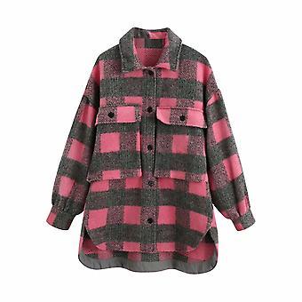 Fashion Wool Coat, Vintage Long Sleeve Jacket