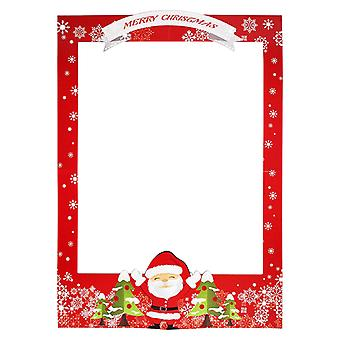 Party Props Photo Booth Frame 2021 Papai Noel Quadro impresso de Natal