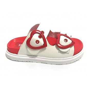 Zapatos de mujer Amor Moschino Sabot Birky 45 En cuero blanco Ds20mo25