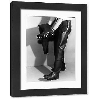 Wędkarstwo Wodery. Duże zdjęcie w ramce. Udo długość gumy połowów wodery i buty z anty-slip.