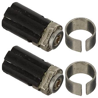 Barrel hinge for nintendo ds lite console shaft axis value replacement - 2 pack black | zedlabz